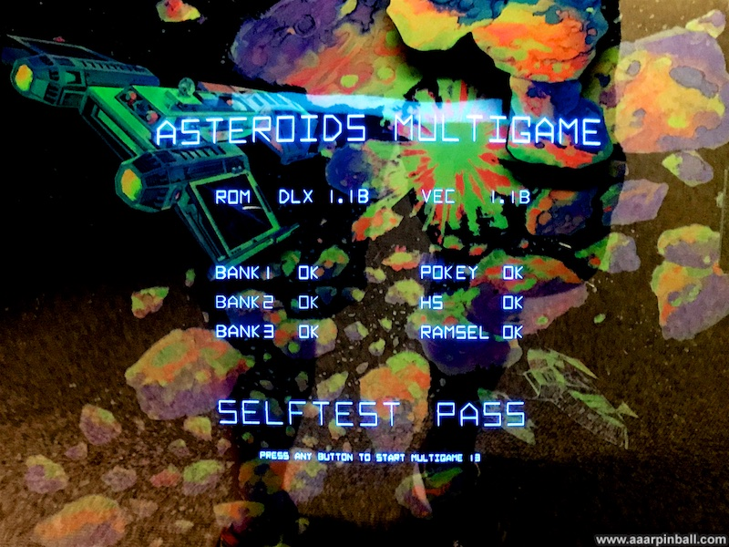 Atari Asteroids Deluxe @ www aaarpinball com
