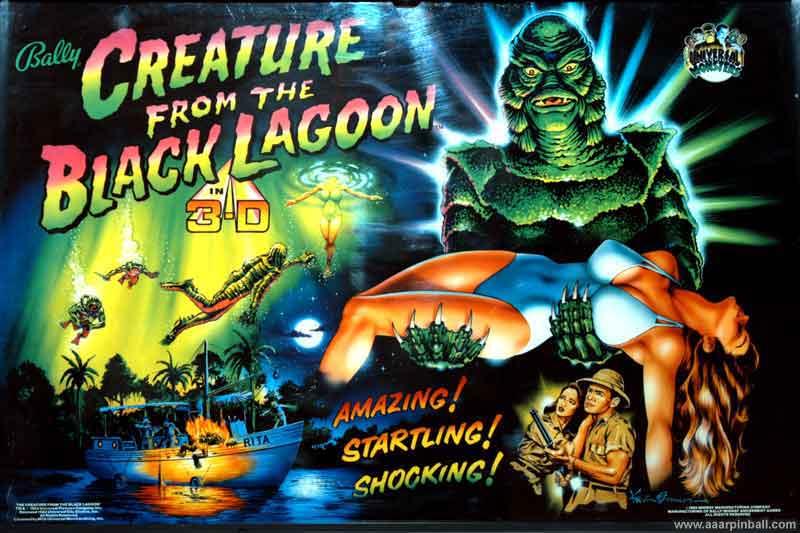 Bally Creature From The Black Lagoon Www Aaarpinball Com